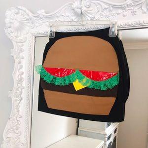 SALE Hamburger BURGER Pockets Skirt
